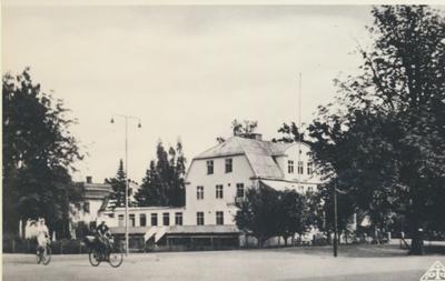 Karlsborg i början av 1900-talet. Hotell Gästis.