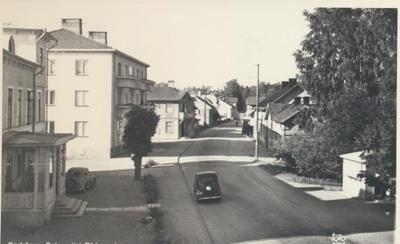 Karlsborg i början av 1900-talet. Gatuvy från Rödesund.