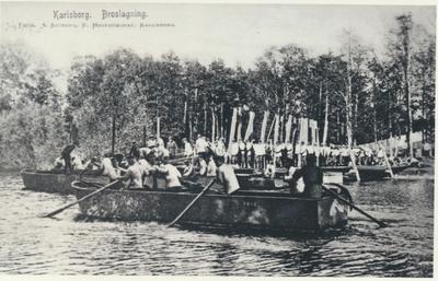 Karlsborg i början av 1900-talet. Broslagning.