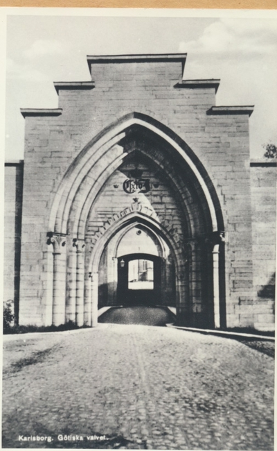 Karlsborg i början av 1900-talet. Götiska valvet.
