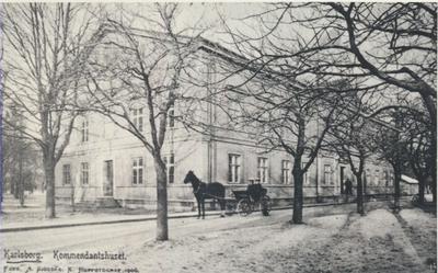 Karlsborg i början av 1900-talet.Kommendanthuset.
