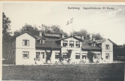 Karlsborg i början av 1900-talet. Ingeniörkårens 6:te kompani.