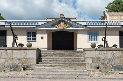 Fotodokumentation av Marinbasens byggnader. Varvsport nr 14. Kansligatan.