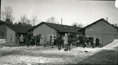 Stallet i Marma (utanför). Artilleriskjutskolan.
