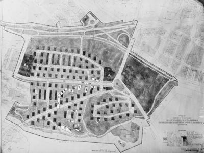 Stadsplan över Kungsholmen ( Marieberg ) 1937