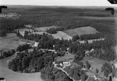 Flygfoto över Nissafors i Jönköpings län. Nr. G. 3190.