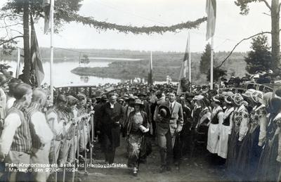 Från Kronprinsparets besök vid Hembygdsfästen i Markaryd den 27 Juli 1924.