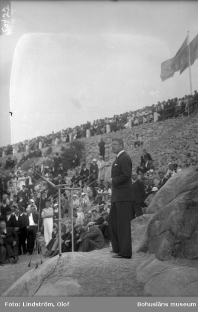 Invigningen av Sotenkanalen måndag den 15 juli 1935