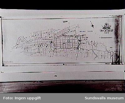 Karta över Sundsvalls stad fr 1873.