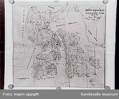 Sköns sn, sockenkarta omkring 1860.