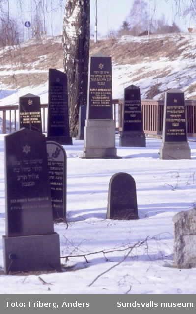 Den judiska begravningsplatsen som är inrymd på Gustav Adolfs kyrkogård.