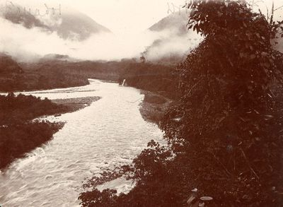 Pastazajoki, jokimaisema yläjuoksulta