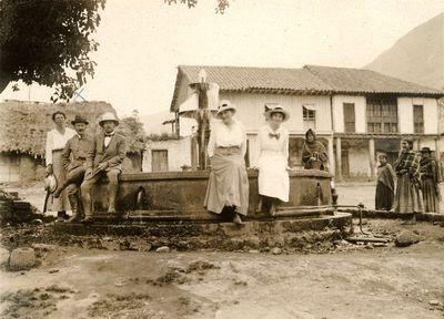 Rafael Karsten saksalaisten ja tanskalaisten siirtokuntalaisten kanssa Quitossa