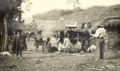 Kylä Argentiinan Chaco-alueella lähellä Yacuiba-kylää