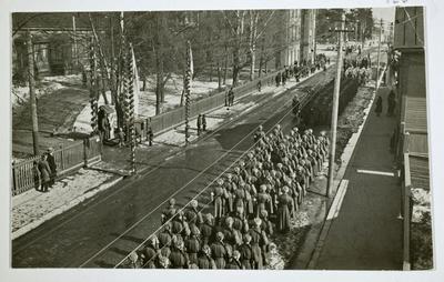 Pohjois-Savon rykmentti itsenäisyyspäivän paraatissa Kuopiossa