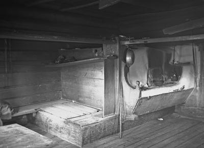 Suojärvi, Hyrsylä, Tšoroinniemi; Ivan Gerasimov Revon talo, savupirtin uuninurkkaus
