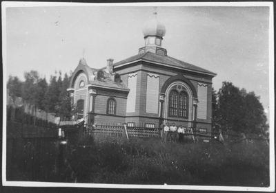 vuonna 1887 valmistunut Annantehtaan ortodoksisen seurakunnan kirkko Suojärven Karatsalmella