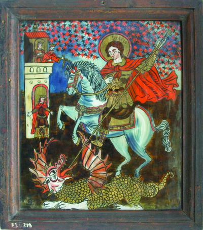 Sf. Gheorghe, ucigând balaurul