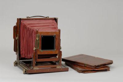 Caixa de suporte de chapas fotográficas - chassi duplo