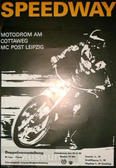 Speedway - Motodrom am Cottaweg - MC Post Leipzig - Clubvergleich Leipzig-Neubrandenburg