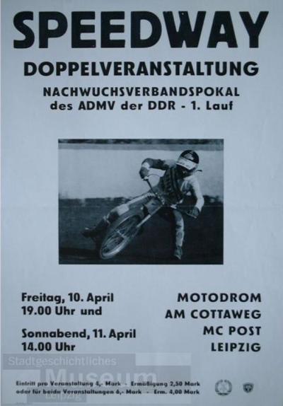 Speedway - Doppelveranstaltung - Nachwuchsverbandspokal des ADMV der DDR