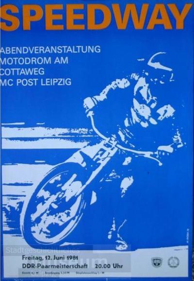 Speedway - Abendveranstaltung Motodrom am Cottaweg MC Post Leipzig - DDR-Paarmeisterschaft