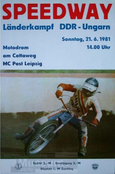 Speedway - Länderkampf DDR-Ungarn
