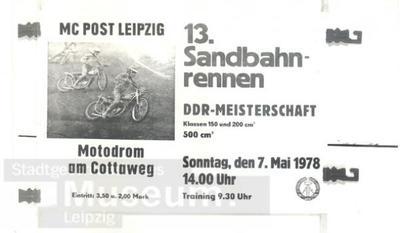 Plakat Sandbahnrennen