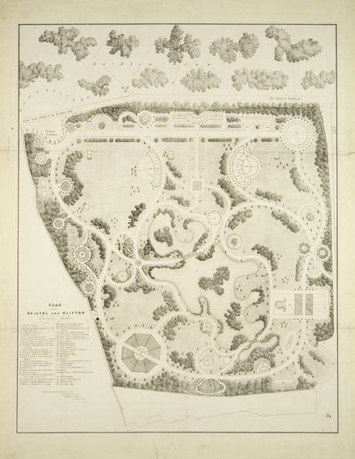 Plan of the Bristol and Clifton Zoological Garden