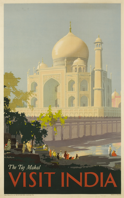 Poster: 'Visit India, The Taj Mahal'