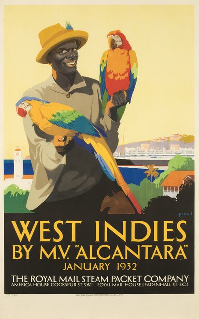Poster: 'West Indies by M.V. Alcantara' [Royal Mail Steam Packet]