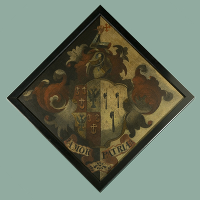Hatchment, with the arms of Pretor-Pinney
