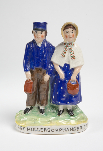 figure group: two Mullers Orphans