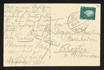 Brief von Hans von Hülsen, Max Pinkus und Unbekannt an Margarete Hauptmann