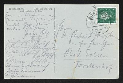 Brief von Hans von Hülsen, Wilhelm Bölsche, Hermann Stehr, Johannes Guthmann, Joachim Zimmermann und Unbekannt an Gerhart Hauptmann
