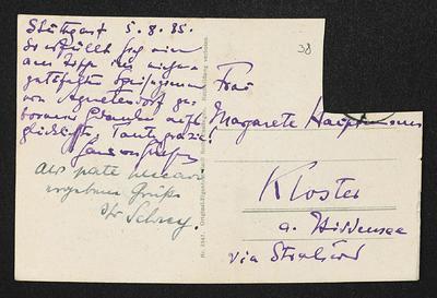 Brief von Hans von Hülsen und Helmut Schrey an Margarete Hauptmann