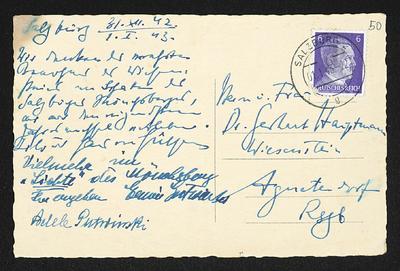 Brief von Hans von Hülsen und Unbekannt an Margarete Hauptmann und Gerhart Hauptmann