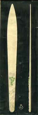 hopeaesineen piirustus