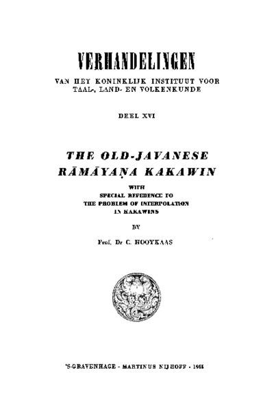 The Old-Javanese R?m?ya?a Kakawin