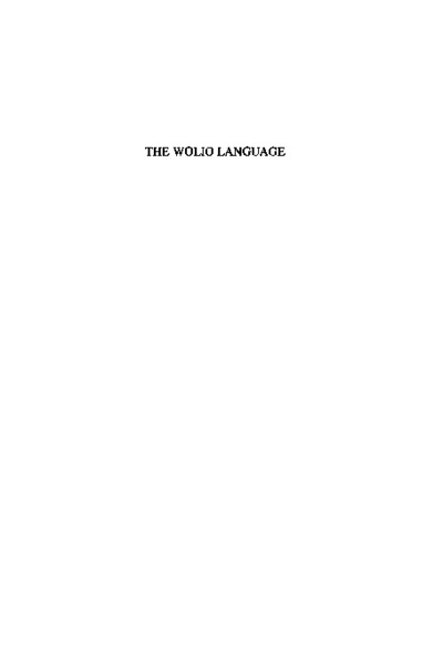 The Wolio Language