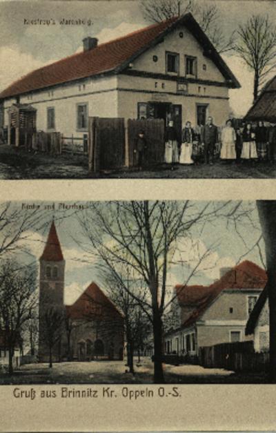 Brynica : kościół pw. św. Szczepana, rodzina Niestrojów przed swoim domem