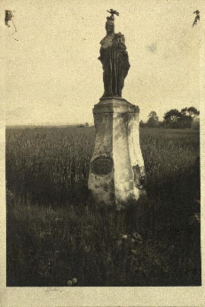 Wójcice: figura św. Jadwigi