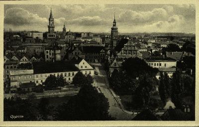 Opole : panorama śródmieścia od zachodu
