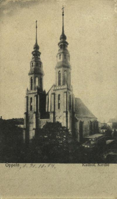 Opole : Katholische Kirche [widok na neogotyckie wieże katedry]