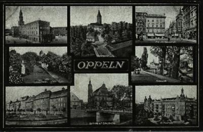 Opole : ośmioobrazkowa pocztówka m.in. ulica Kościuszki