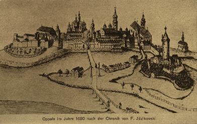 Opole : Opole w 1680, z kroniki F.Idzikowskiego