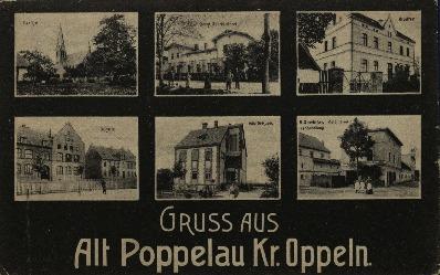 Popielów : kościół, klasztor, szkoła, willa dr. Kubisa, sklep R. Gawlittasa