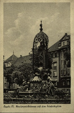 Opole : Monumentallbrunnen auf dem Friedrichsplatz [fontanna Ceres]