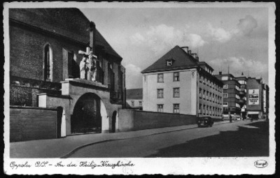 Opole : [dzisiejsza ulica Katedralna z bramą wjazdową do Katedry Podwyższenia Krzyża Świętego]