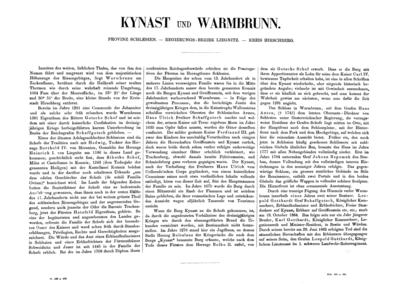 Kynast und Warmbrunn